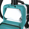 Makita XCV10PTX 18V X2 LXT (36V) Lithium-Ion Brushless 1/2 Gallon Cordless Backpack Dry Dust Extractor Kit with HEPA Filter, AWS Capable (5 Ah) image number 6