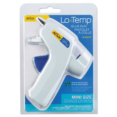 AdTech 0450 Mini Glue Gun Low Temp White - 10W