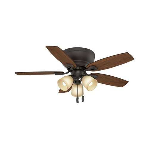 Casablanca 53188 44 in. Durant 3 Light Maiden Bronze Ceiling Fan with Light