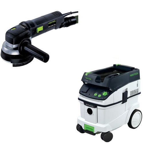 Festool RAS 115.04 E 4-1/2 in. Rotary Sander with CT 36 AC 9.5 Gallon Mobile Dust Extractor