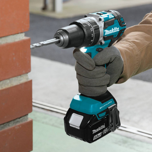 Makita XPH12T 18V LXT Lithium-Ion Compact Brushless 1/2 in. Cordless Hammer Drill Driver Kit (5 Ah) image number 4