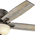 Hunter 53342 52 in. Donegan Onyx Bengal Ceiling Fan with Light image number 8
