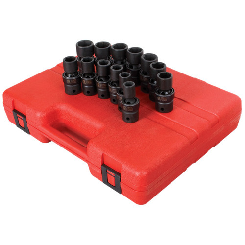 Sunex 2665 13-Piece 1/2 in. Drive Metric Universal Impact Socket Set image number 0