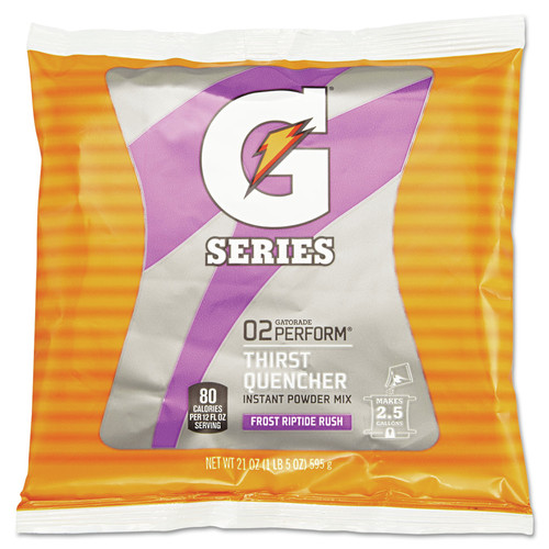 Gatorade 33673 21 oz. Packets Original Powdered Drink Mix (Riptide Rush) (32-Pack) image number 0
