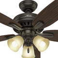 Hunter 53317 52 in. Newsome Premier Bronze Ceiling Fan with Light image number 6