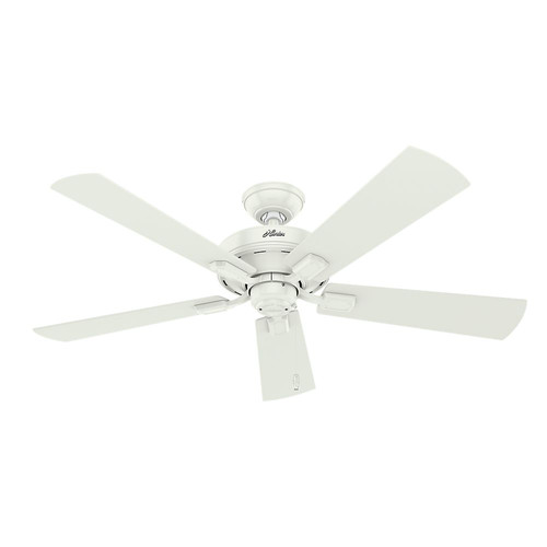 Hunter 54204 52 in. Crestfield Fresh White Ceiling Fan with Light image number 1