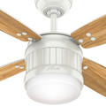 Hunter 59314 52 in. Seahaven Fresh White Ceiling Fan with Light and Handheld Remote image number 6