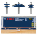 Bosch RBS003 1/2 in. Carbide-Tipped Ogee Door and Cabinetry 3-Piece Router Bit Set