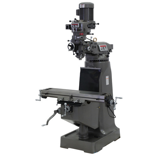 JET JTM-2 9 in. x 42 in. 2 HP 1-Phase R-8 Taper Vertical Milling Machine