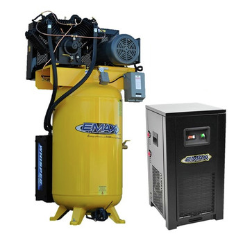 EMAX ESP10V080V1PK 10 HP 80 Gallon Oil-Lube Stationary Air Compressor with 115V 7.2 Amp Refrigerated Corded Air Dryer Bundle
