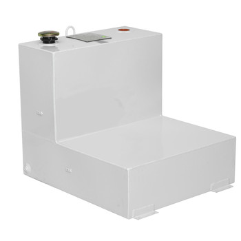 JOBOX 482000 51 Gallon L-Shaped Steel Liquid Transfer Tank - White