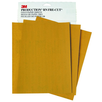3M 2544 Production Resinite Gold Sheet 9 in. x 11 in. P220A (50-Pack)