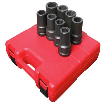 Sunex 5681 8-Piece 1 in. Drive SAE Deep Impact Socket Set