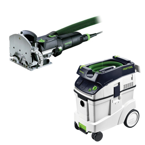 Festool DF 500 Q Domino Mortise and Tenon Joiner Set with CT 48 E 12.7 Gallon HEPA Dust Extractor