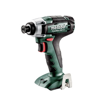 Metabo 601114890 PowerMaxx SSD 12 12V 1/4 in. Hex Compact Impact Driver (Tool Only)