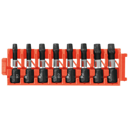 Bosch CCSSQV108 8-Piece Impact Tough Square 1 in. Insert Bits with Clip for Custom Case System