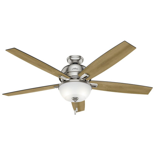 Hunter 54172 60 in. Donegan Brushed Nickel Ceiling Fan with Light