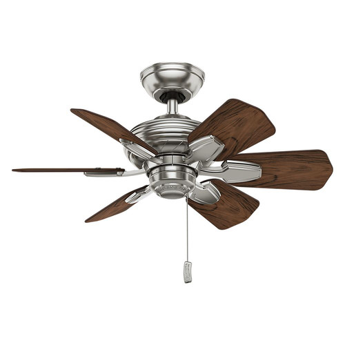 Casablanca 59524 31 in. Traditional Wailea Brushed Nickel Dark Walnut Outdoor Ceiling Fan image number 0