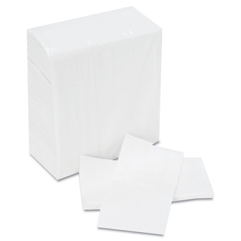 Boardwalk BWK8302 500-Piece/Pack, 20 Packs/Carton 7 in. x 12 in. Tallfold Dispenser Napkins - White