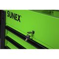 Sunex 8035XTLG 3 Drawer Slide Top Utility Cart with Power Strip (Lime Green) image number 3
