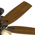 Hunter 53317 52 in. Newsome Premier Bronze Ceiling Fan with Light image number 5