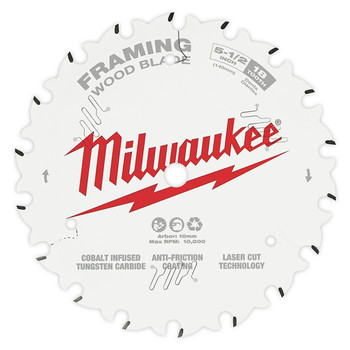 Milwaukee 48-40-0520 5-1/2 in. 18T Framing Circular Saw Blade image number 0