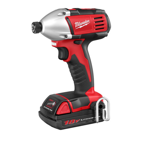 Factory Reconditioned Milwaukee 2650-81 M18 18V Cordless 1/4 in. Lithium-Ion Compact Impact Driver Kit