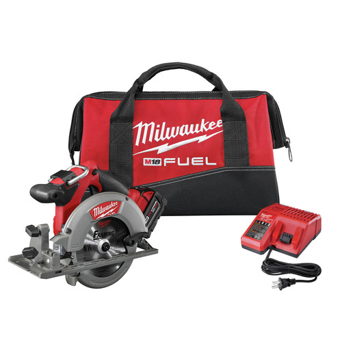 Milwaukee 2730-21 M18 FUEL Cordless 6-1/2 in. Circular Saw with REDLITHIUM Battery image number 0