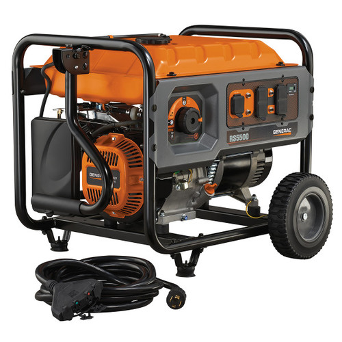 Factory Reconditioned Generac RS5500 5,500 Watt Portable Generator with Cord