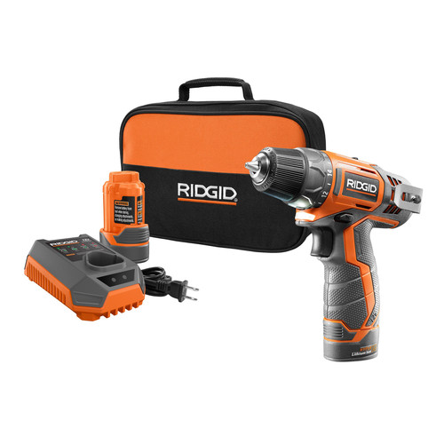 Factory Reconditioned Ridgid ZRR82005K 12V 2.0 Ah Cordless Lithium-Ion 3/8 in. Drill Driver Kit