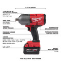 Milwaukee 2766-22 M18 FUEL High Torque 1/2 in. Impact Wrench with Pin Detent (Kit) image number 2