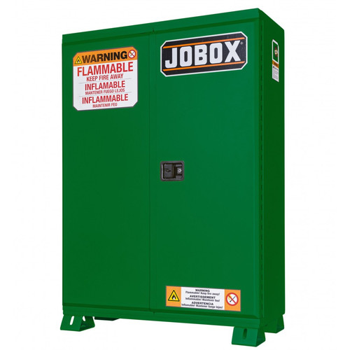 JOBOX 1-858670 60 Gallon Heavy-Duty Safety Cabinet (Green) image number 0