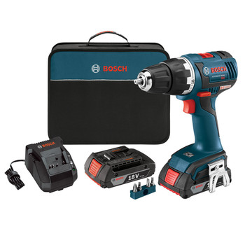 Factory Reconditioned Bosch DDS182-02-RT 18V Lithium-Ion Brushless Compact Tough 1/2 in. Cordless Drill Driver Kit (2 Ah)