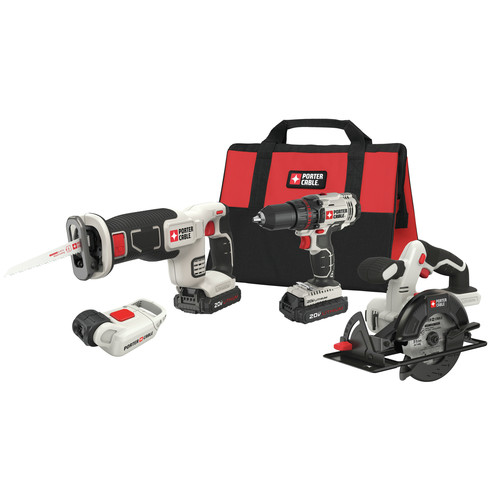 Porter-Cable PCCK616L4 20V Max Cordless Lithium-Ion 4-Tool Combo Kit