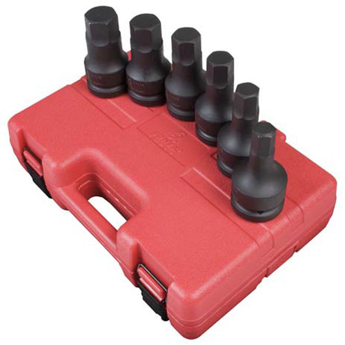 Sunex 5606 6-Piece 1 in. Drive SAE Hex Driver Socket Set image number 0