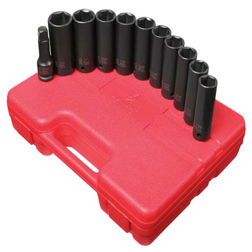 Sunex 2611 11-Piece 1/2 in. Drive Extra Thin Wall Deep Impact Socket Set