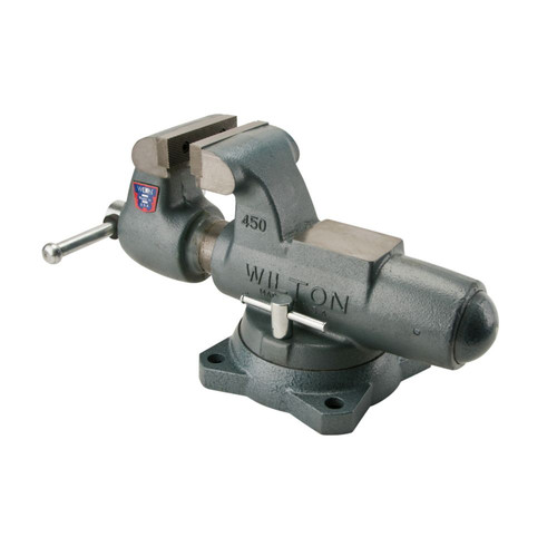 Wilton 10036 800S, Machinists' Bench Vise - Swivel Base, 8 in. Jaw Width, 12 in. Jaw Opening, 5-13/16 in. Throat Depth image number 2