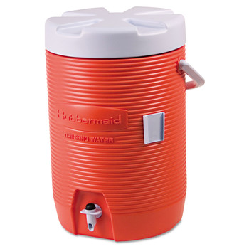Rubbermaid Commercial 16830111 3 Gallon Insulated Beverage Container (Orange/White)
