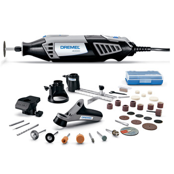 Dremel 4000-4-34 High Performance Variable-Speed Rotary Tool Kit with 4 Attachments and 34 Accessories