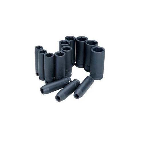 ATD 2701 13-Piece 6-Point Metric Deep Impact Socket Set image number 0