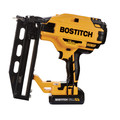 Bostitch BCN662D1 20V MAX 2.0 Ah Lithium-Ion 16 Gauge Straight Finish Nailer Kit image number 1