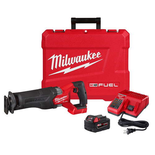 Milwaukee 2821-21 M18 FUEL Brushless Lithium-Ion SAWZALL 1-1/4 in. Cordless Reciprocating Saw Kit with (1) Battery (5 Ah) image number 0