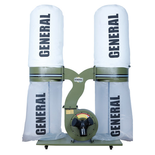 General International 10-210 M1 2.5 HP 120V 1 PH Industrial Dust Collector with 2 Micron Dust Bags