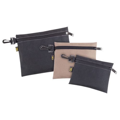 CLC 1100 Custom LeatherCraft 3 PC (6  in. x 5  in., 7  in. x 6  in., 9  in. x 7  in.) Clip On Zippered Tool Bags