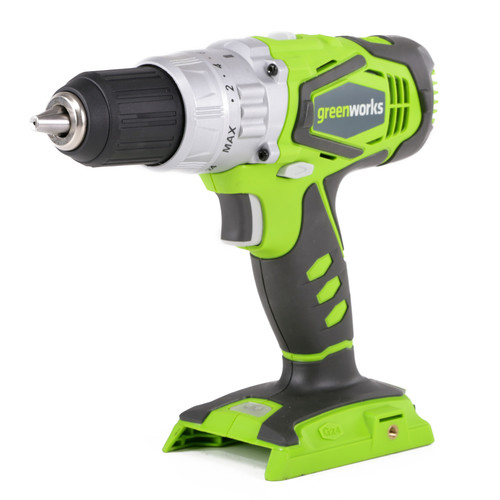 Greenworks 3700502A 24V Cordless Lithium-Ion 2-Speed 1/2 in. Hammer Drill (Tool Only)