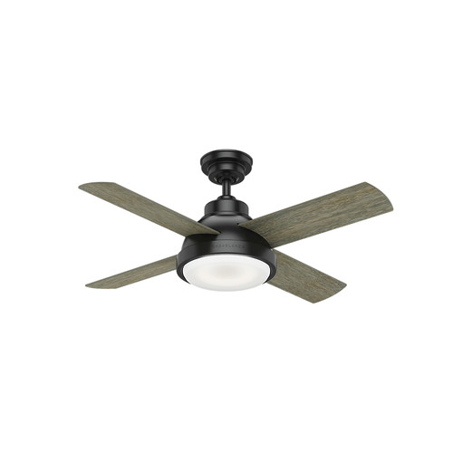 Casablanca 59435 44 in. Levitt Matte Black Ceiling Fan with LED Light Kit and Wall Control