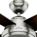 Hunter 59249 52 in. Dempsey Brushed Nickel Ceiling Fan with Remote image number 3