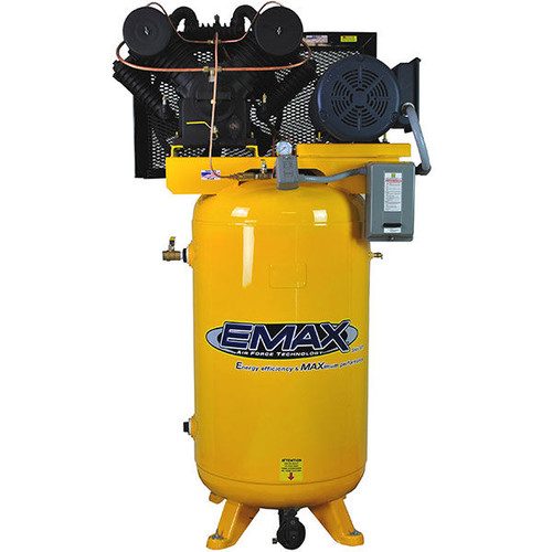 EMAX EP07V080V3 80 Gallon 7.5 HP 2-Stage 3-Phase Vertical Air Compressor