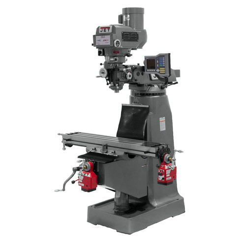 JET JTM-4VS 230/460V Variable Speed Milling Machine with 3-Axis ACU-RITE VUE DRO (Knee) and X/Y-Axis Powerfeeds