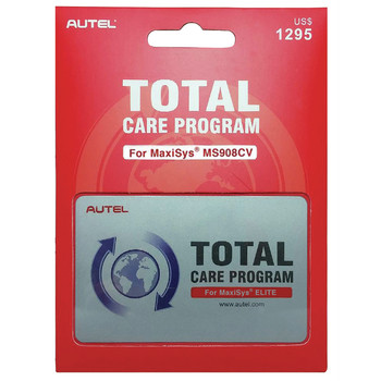 Autel MS908CV-IYRUPDATE MaxiSYS M908CV 1 Year Total Care Program Card